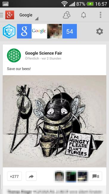 Google Plus: App