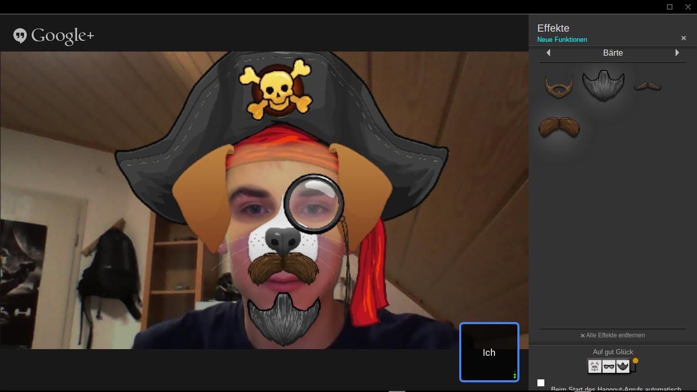 Hangout - Google Effects Demo