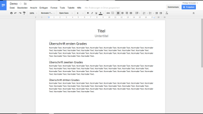 Google Docs - Textdokumente
