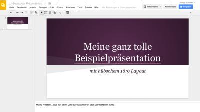 Google Docs - Präsentationen
