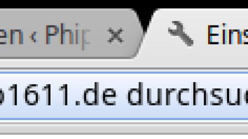 Omnibox - Suche in phip1611.de