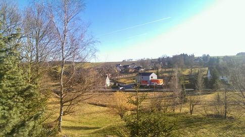 Geniales Wetter über meinem Dorf.