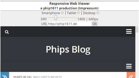 Screenshot: Chrome-App Responsive Website Viewer