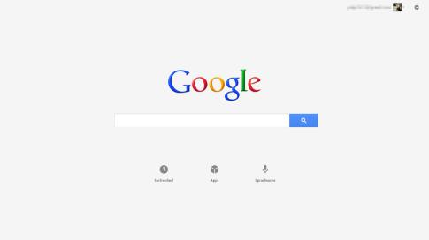 Google Suche App für Windows 8 - Startseite