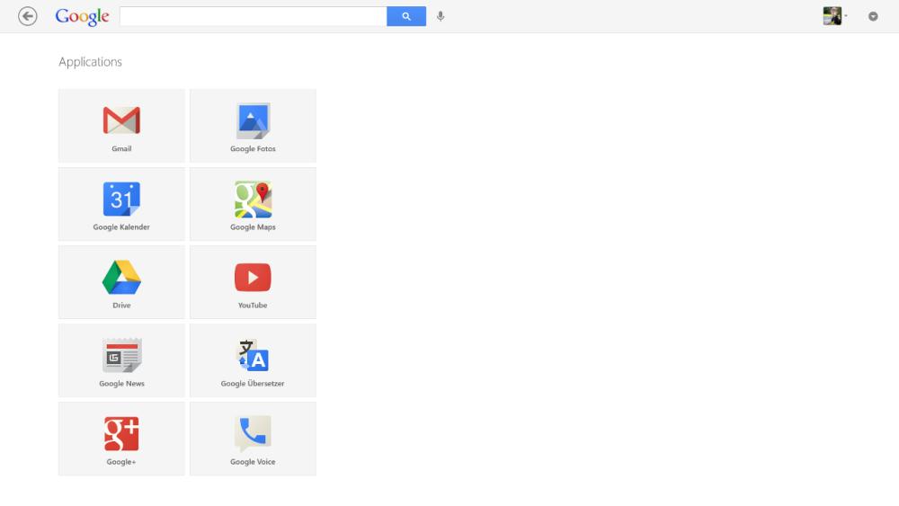 Google Suche App für Windows 8 - App Übersicht