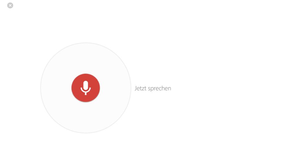 Google Suche App für Windows 8 - Sprachsuche