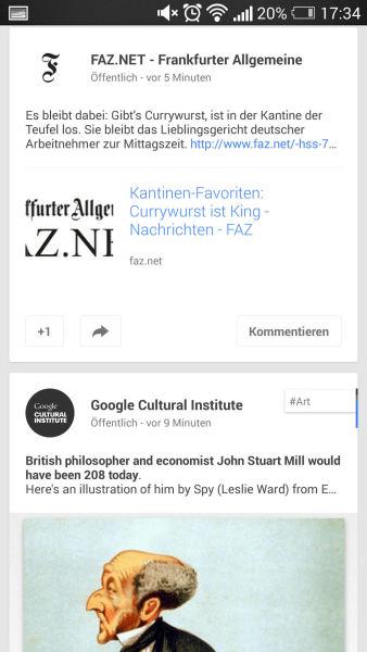 Neues Google+ UI für Android #2