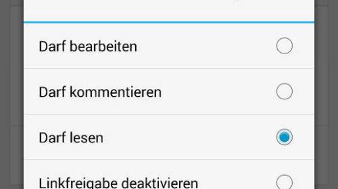 Google Drive Dateien per Link teilen in der Android-App