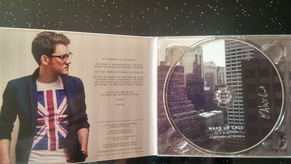 Wake Up Call by Alex Goot (CD-Hülle geöffnet)
