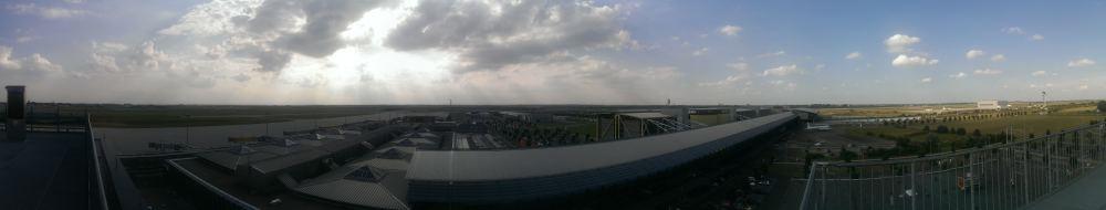 Leipzig Flughafen Panorama