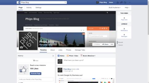 Facebook Seite - Stream