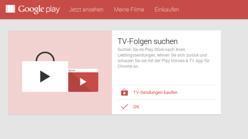 Google Play TV-Serien (Play Movies Chrome App) (Ausschnitt)