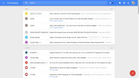 Google Inbox (Web) Posteingang