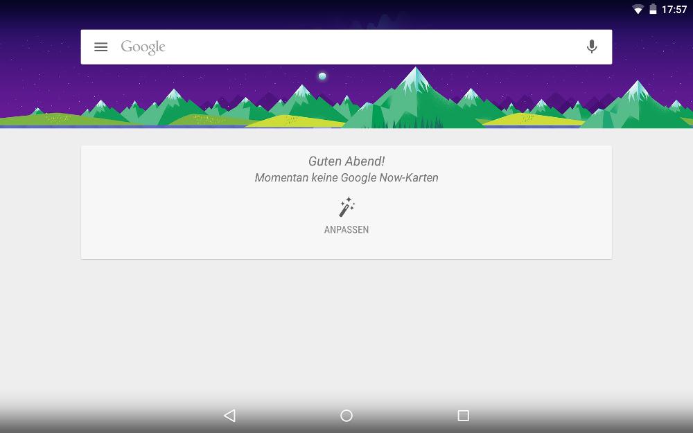 Google Now Launcher: Google Suche
