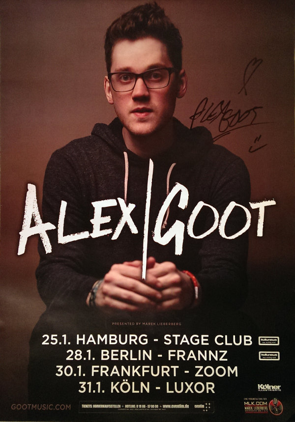 Alex Goot Konzert Köln 2015 (Alex Poster groß)