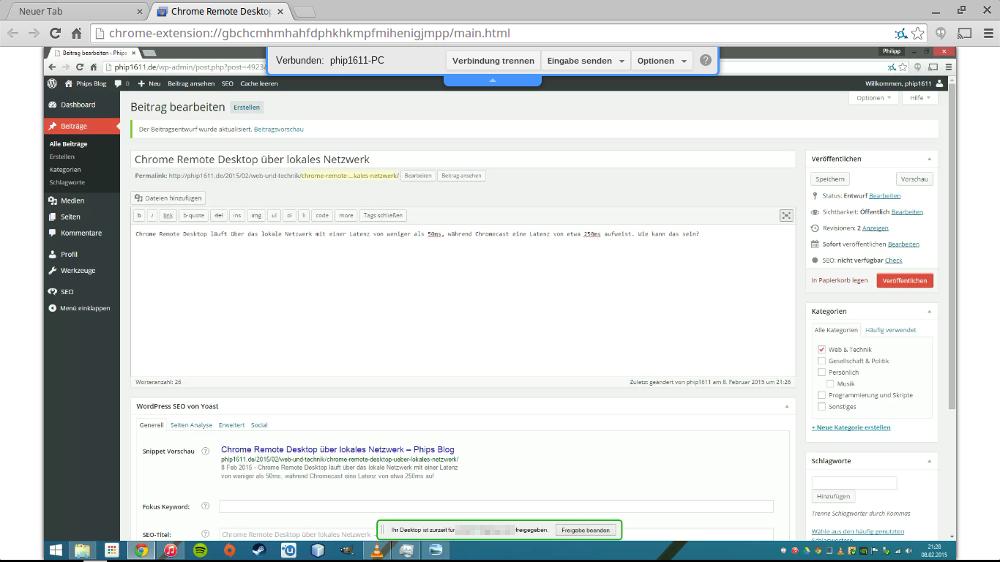 Chrome Remote Desktop auf ChromeOS