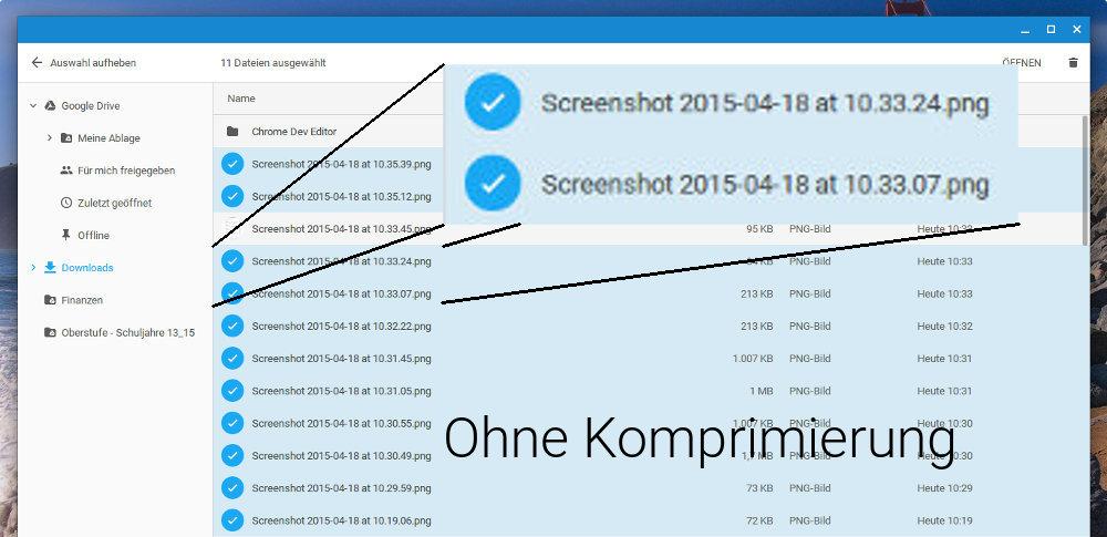 Schrift in Bildern bei deaktivierter Chrome-Datenkompression