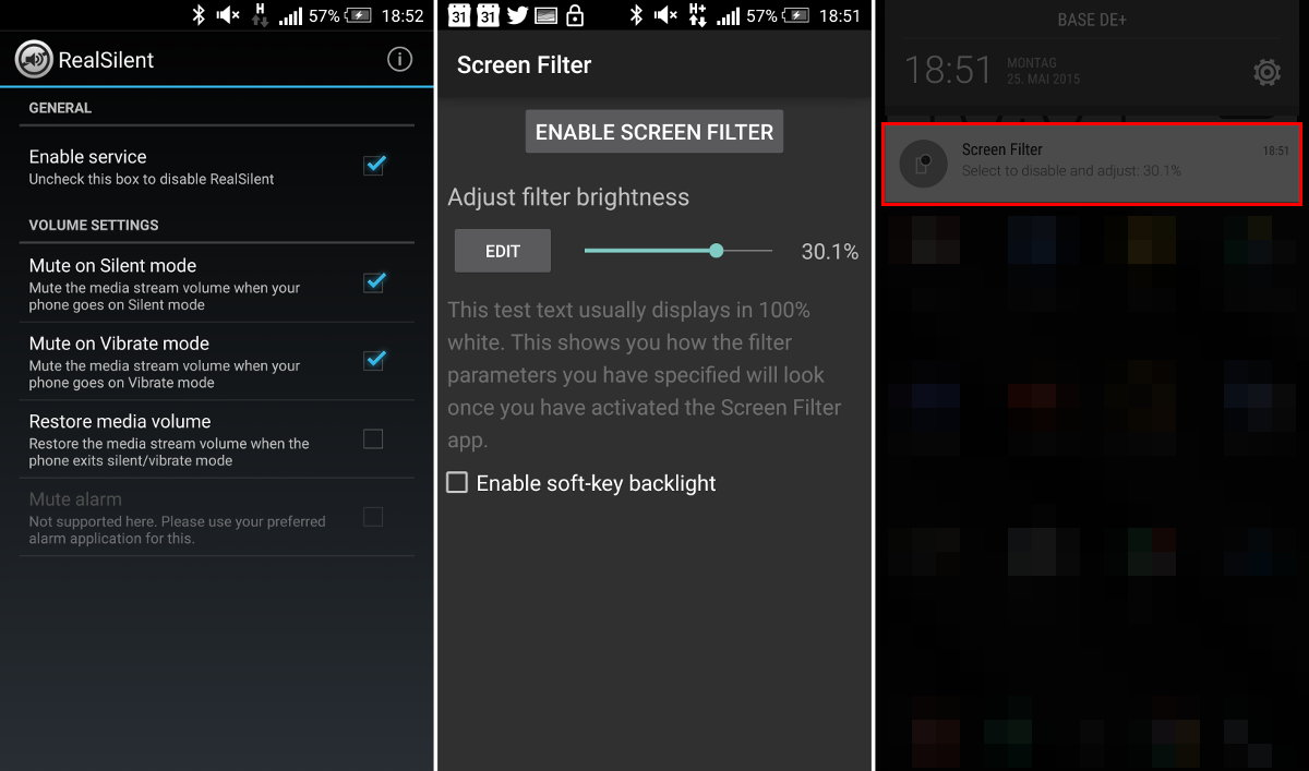 App-Tipps: RealSilent und Screenfilter