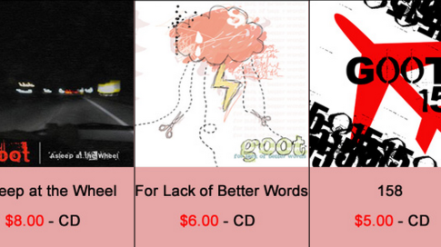 CDs in altem Goot-Shop
