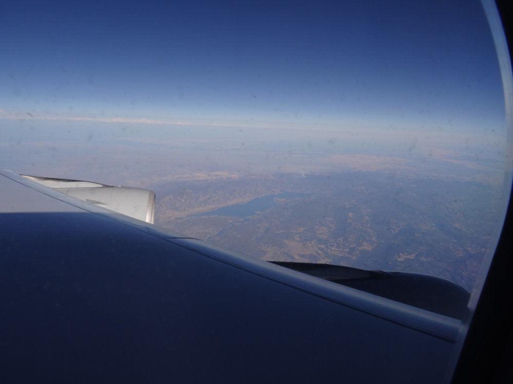 Blick aus dem A340, irgendwo über den USA.