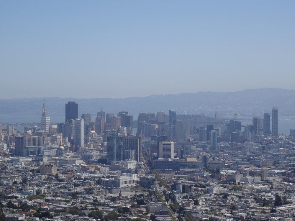 Ausblick von Twin Peaks auf San Francisco.