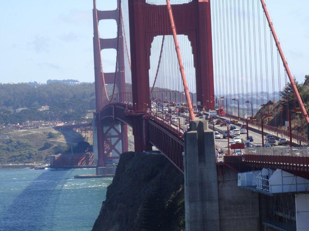 Ausblick vom nördlichen Ende der Golden Gate Bridge.