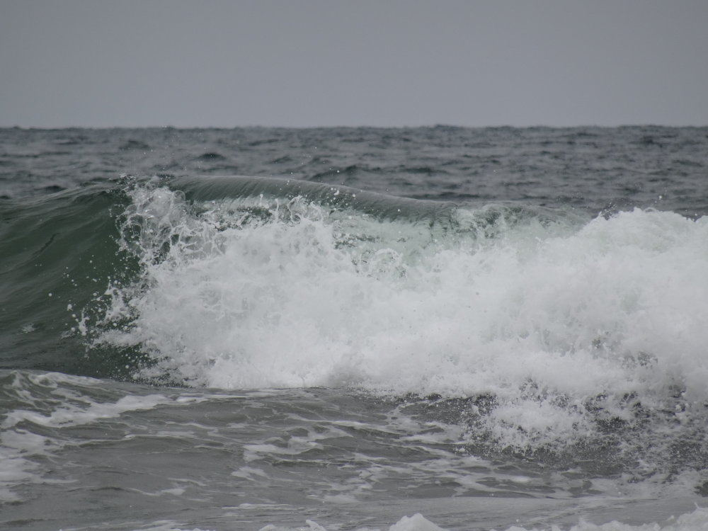Wellen im Pazifik an der Westseite von San Francisco.