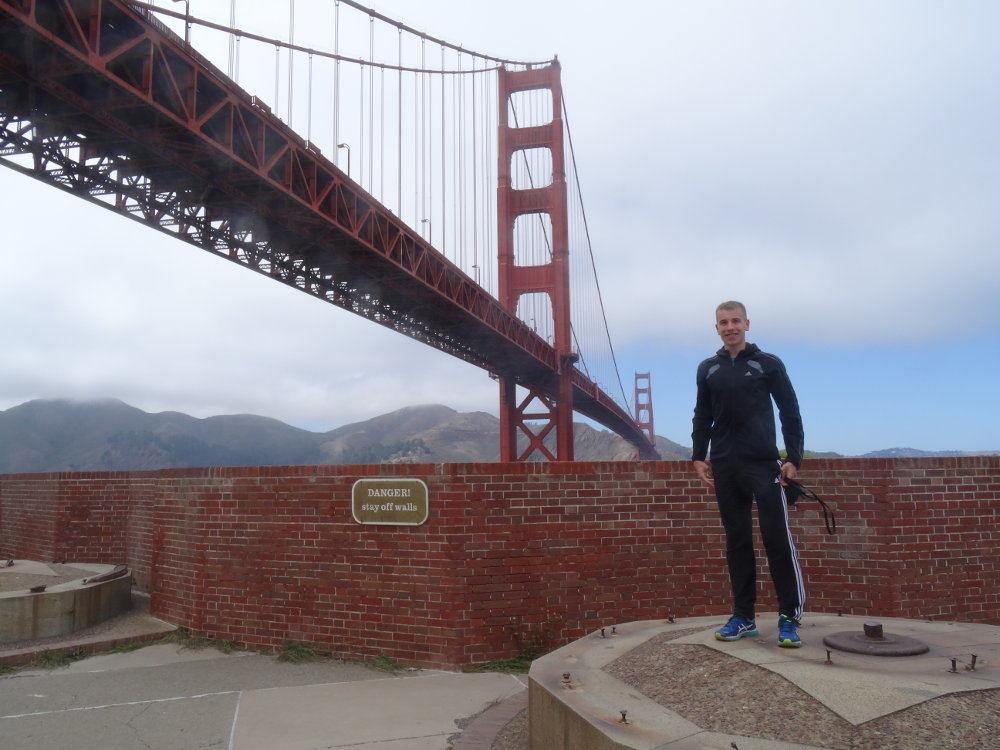 Golden Gate Bridge vom südlichen Ende.
