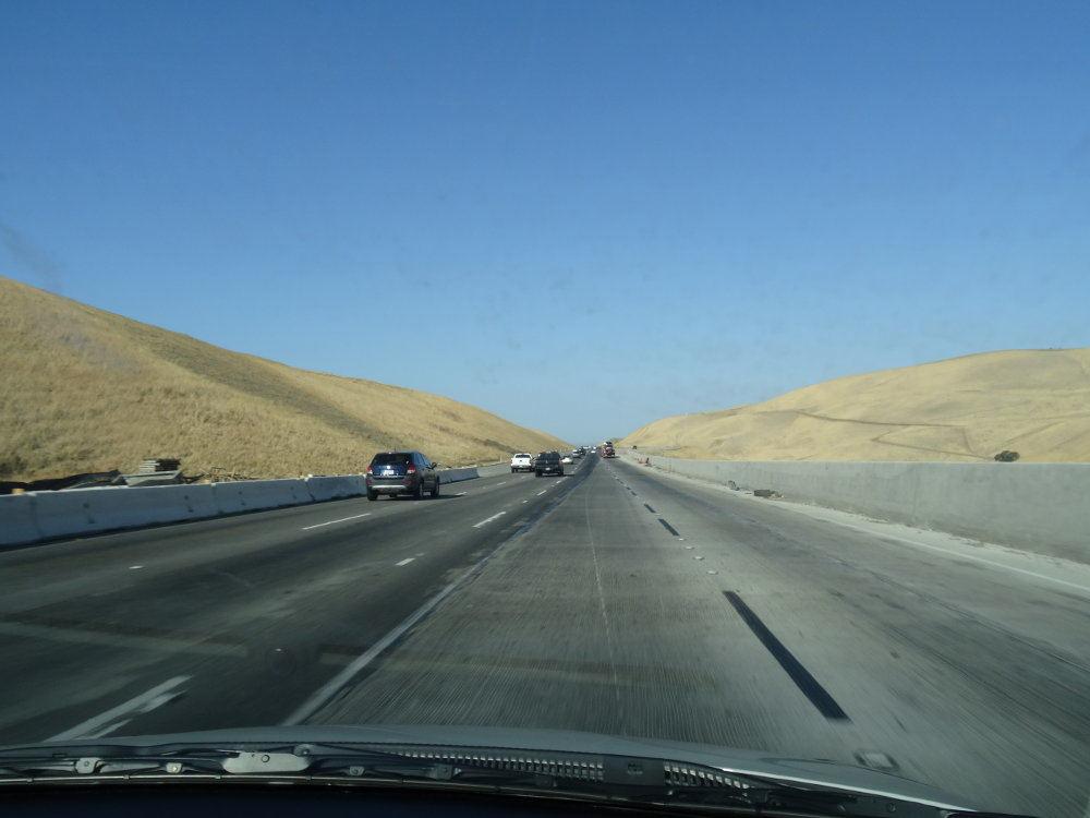 Auf dem Weg zum Yosemite Nationalpark (Richtung Osten).