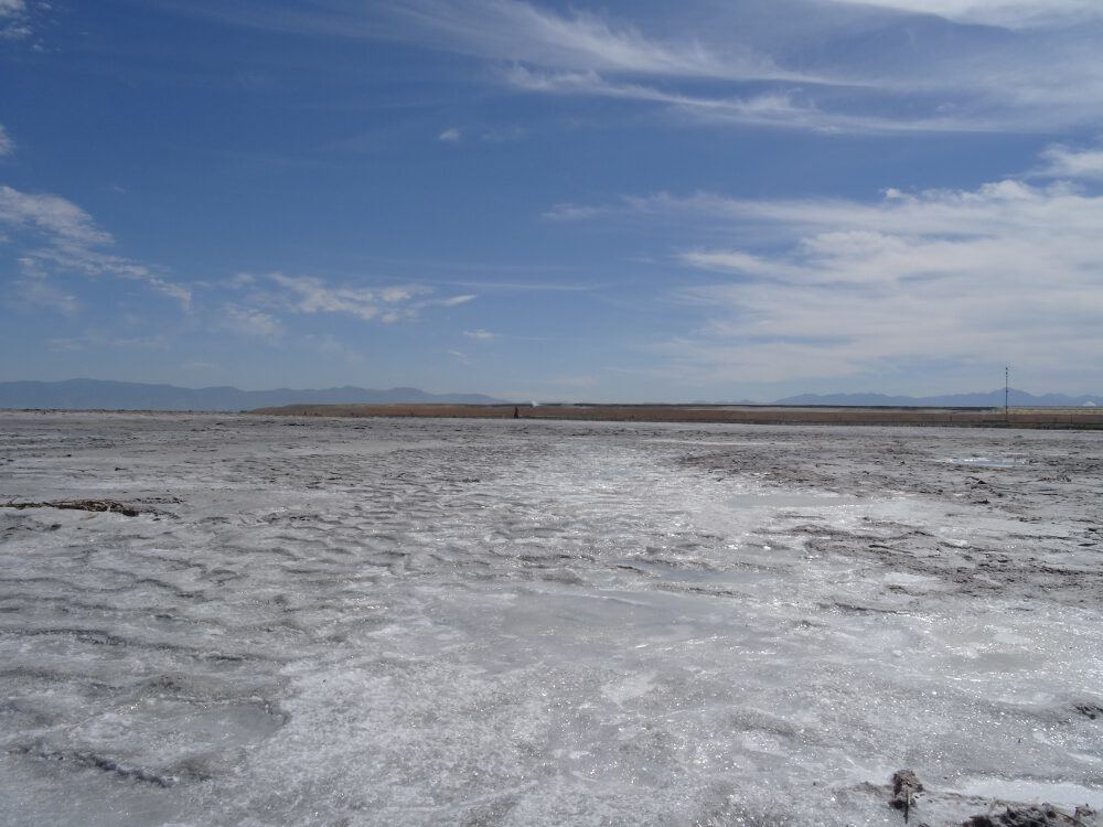 Ausgetrockneter Seeboden am Rand des Great Salt Lake