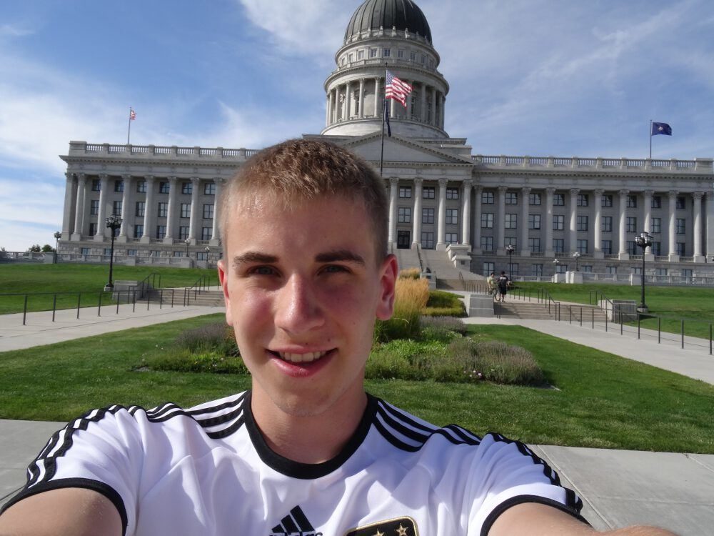 Beweisselfie ;) am Parlament - Salt Lake City