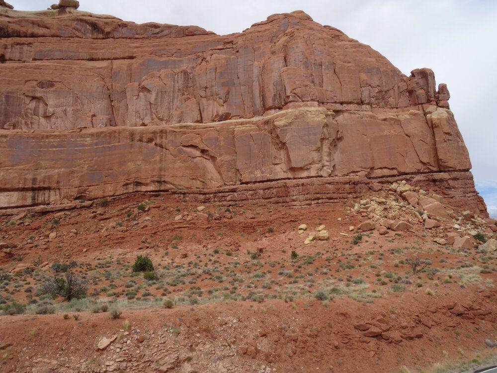 So sieht das rote Gestein aus. Das finde und fand ich sehr beeindruckend!
