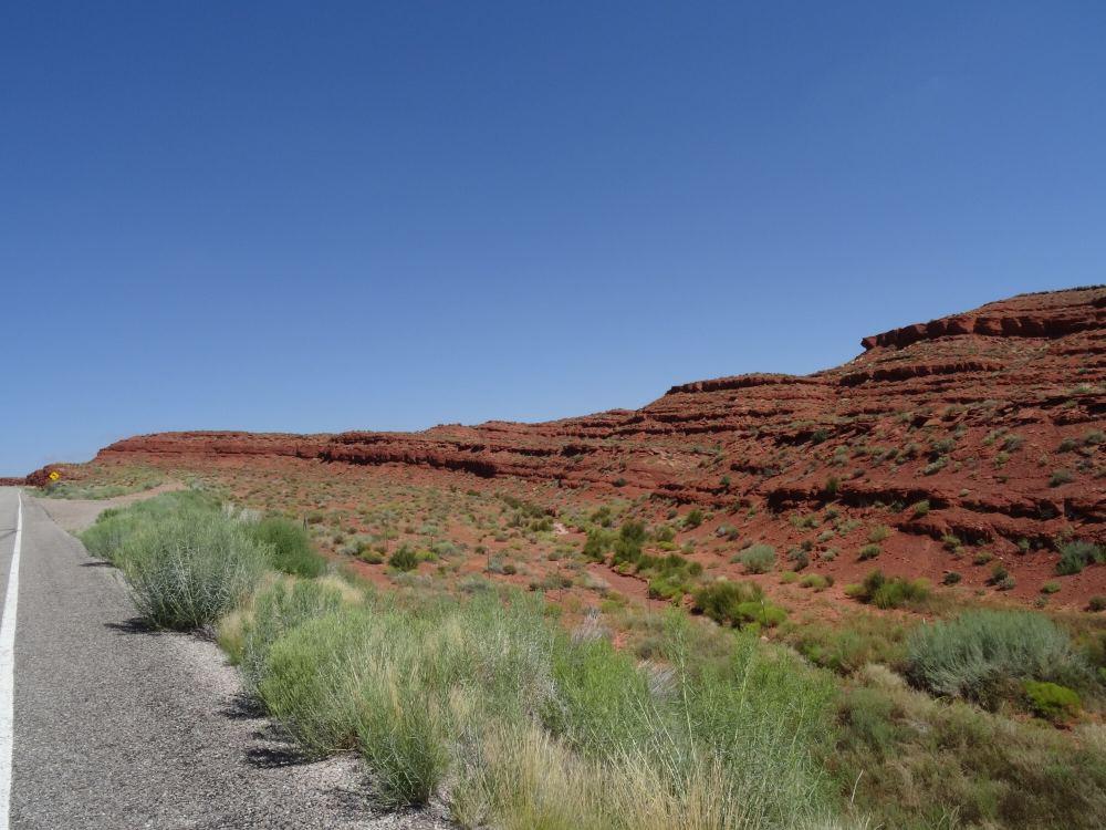 Auf dem Weg von Bluff (Utah) Richtung Westen