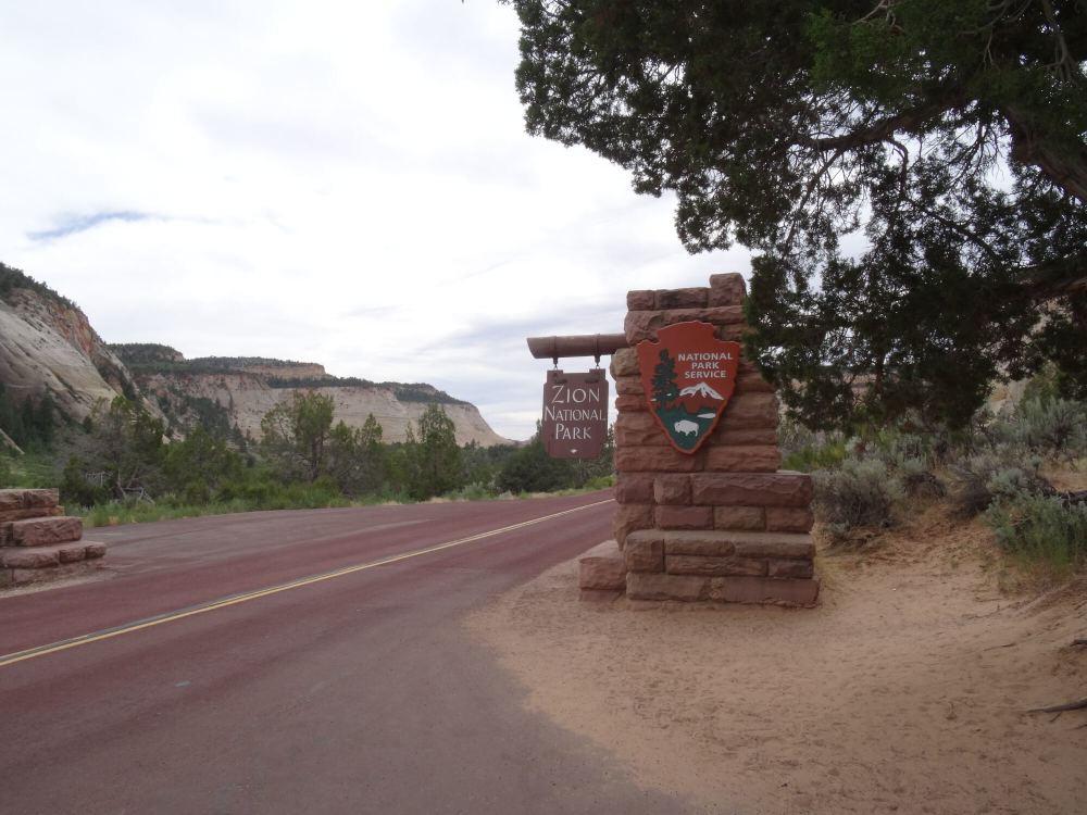 Zion Nationalpark in Utah: Eingang