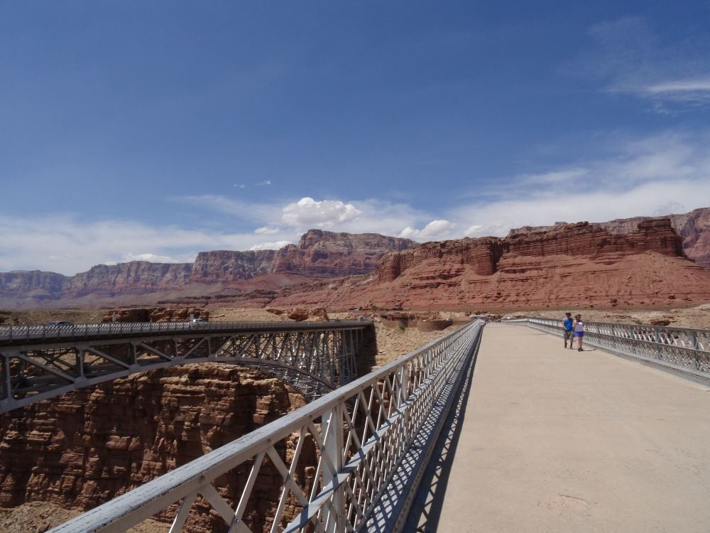 Navajo Bridge (Colorado River) auf dem Weg vom North Rim zum South Rim