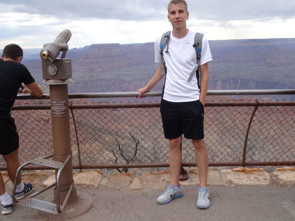 Grand Canyon South Rim (Das Foto ist leider mies geworden von der Perspektive her, aber besser als gar keins!)