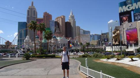Las Vegas: Im Hintergrund das New York-New York Hotel & Casino