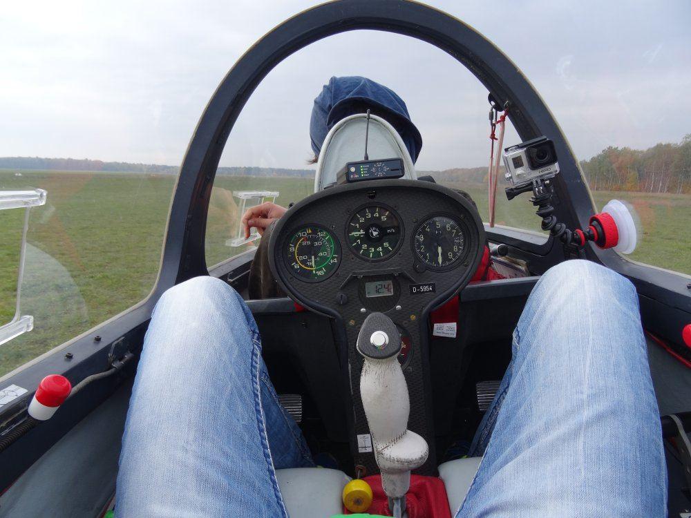 Ich im Segelflugzeug