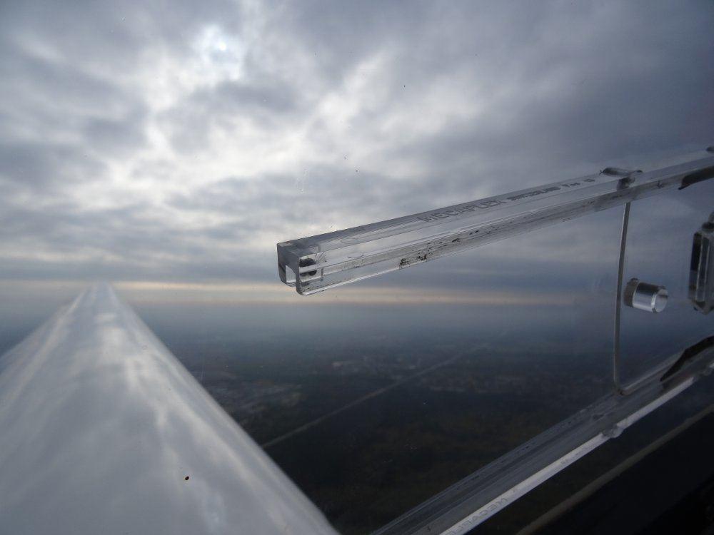 Ausblick während des Fluges (sorry, Autofokus)
