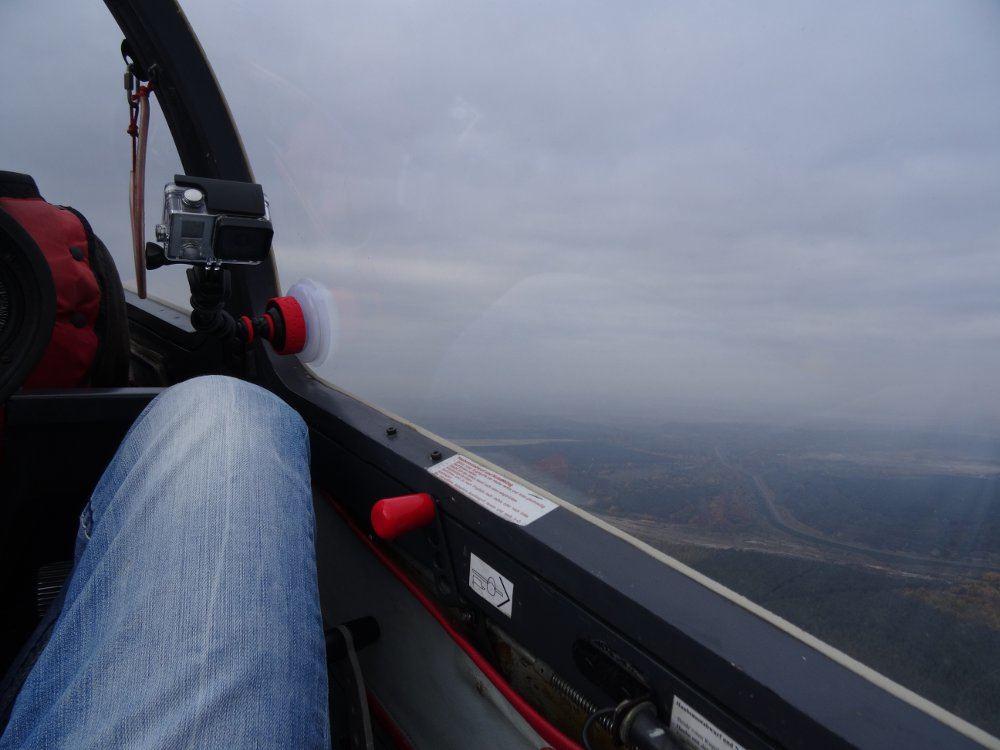 Ausblick während des Fluges