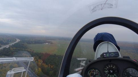 Ausblick kurz vor der Landung