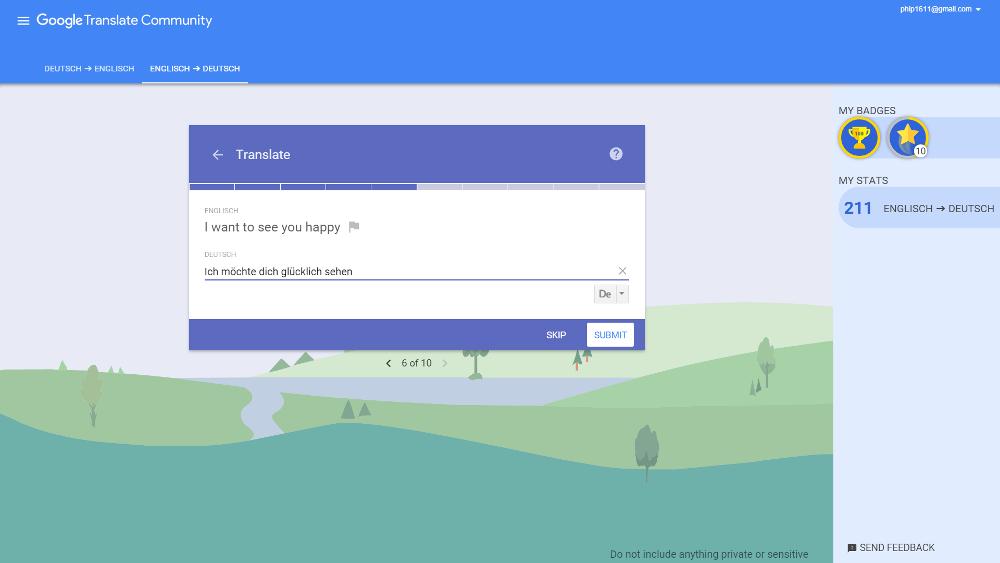 Google Translate Community: Sätze und Wortgruppen übersetzen