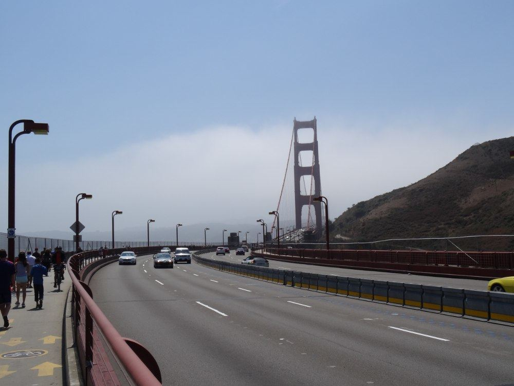 Golden Gate Bridge am 17. August 2015
