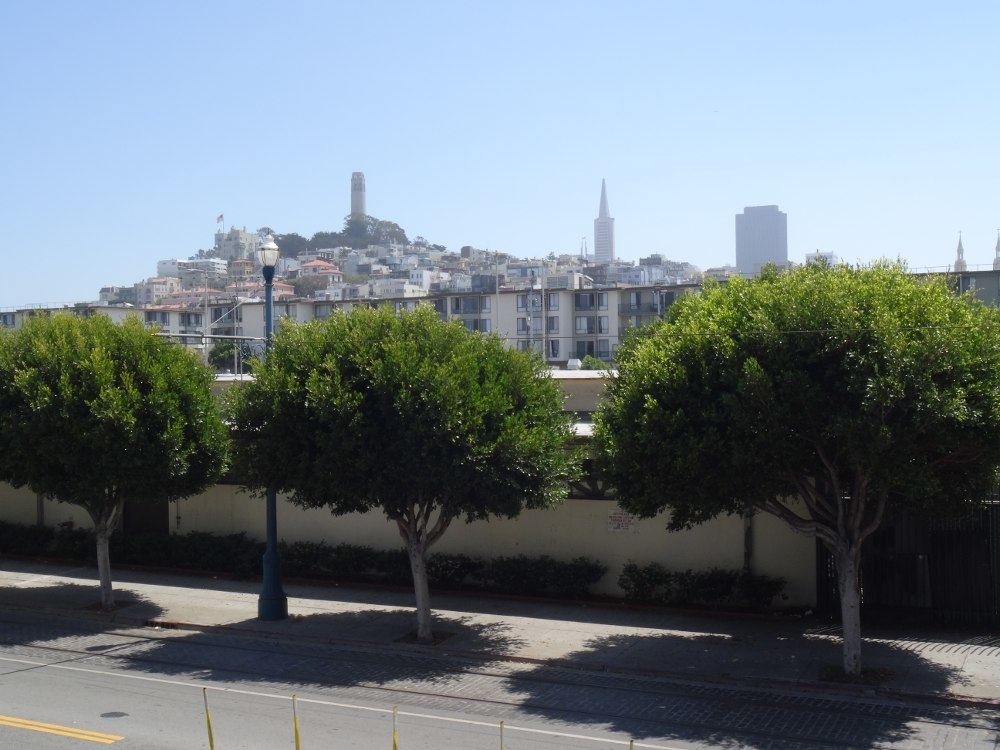 San Francisco (Coit-Tower im Hintergrund) am 17. August 2015