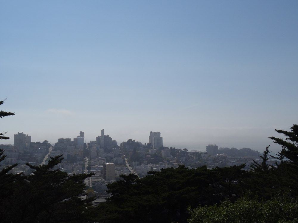 Ausblick nahe Coit-Tower am 17. August 2015