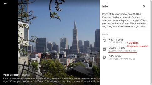 Speicherverbrauch beim neuen Google+ Fotos