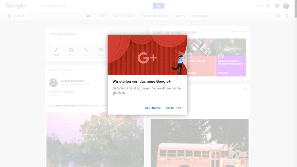 Einladung zum neuen Google+