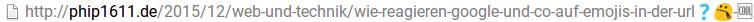 URL mit Emojis