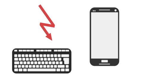 Eindrucksvolle Symbolgrafik: Eingabe an Smartphones nicht optimal