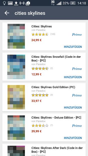 Amazon Preis-Alarm (App): Suche nach Amazon-Produkten